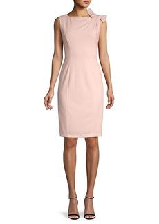 Calvin Klein Bow-Shoulder Sheath Dress