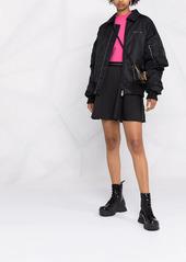 Calvin Klein box-pleat A-line miniskirt