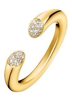Calvin Klein Brilliant Pave Swarovski Crystal Ring - Size 7