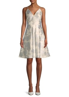 Calvin Klein Brocade A-Line Dress
