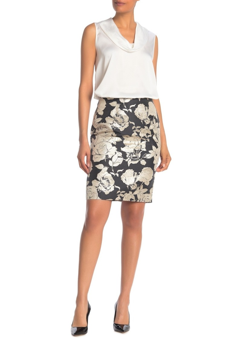 Calvin Klein Brocade Floral Skirt