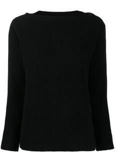 Calvin Klein button detail ribbed jumper