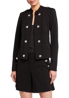 Calvin Klein Button Detail Zip Sleeve Jacket