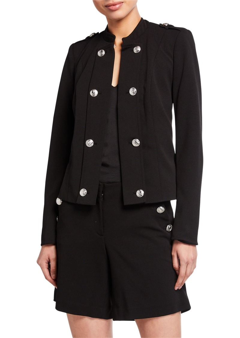 Calvin Klein Button Detail Zip Sleeve Jacket
