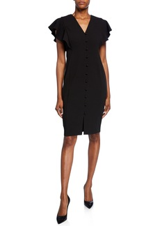 Calvin Klein Button-Front Sheath Dress