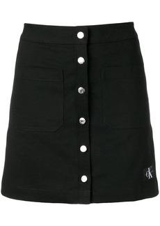 Calvin Klein button up mini skirt