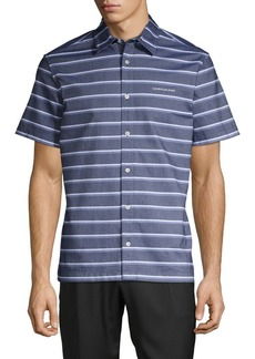 Calvin Klein California Stripe Chambray Short-Sleeve Shirt