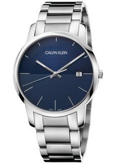 Calvin Klein Calivn Klein Men's Swiss City Stainless Steel Bracelet Watch 43mm