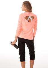 Calvin Klein + Performance Open Back Pullover Top