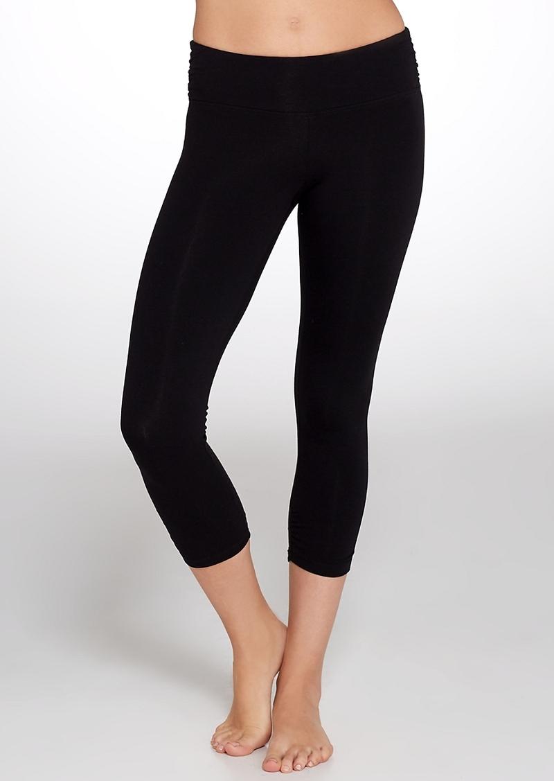 Calvin Klein + Performance Side Shirred Cropped Leggings