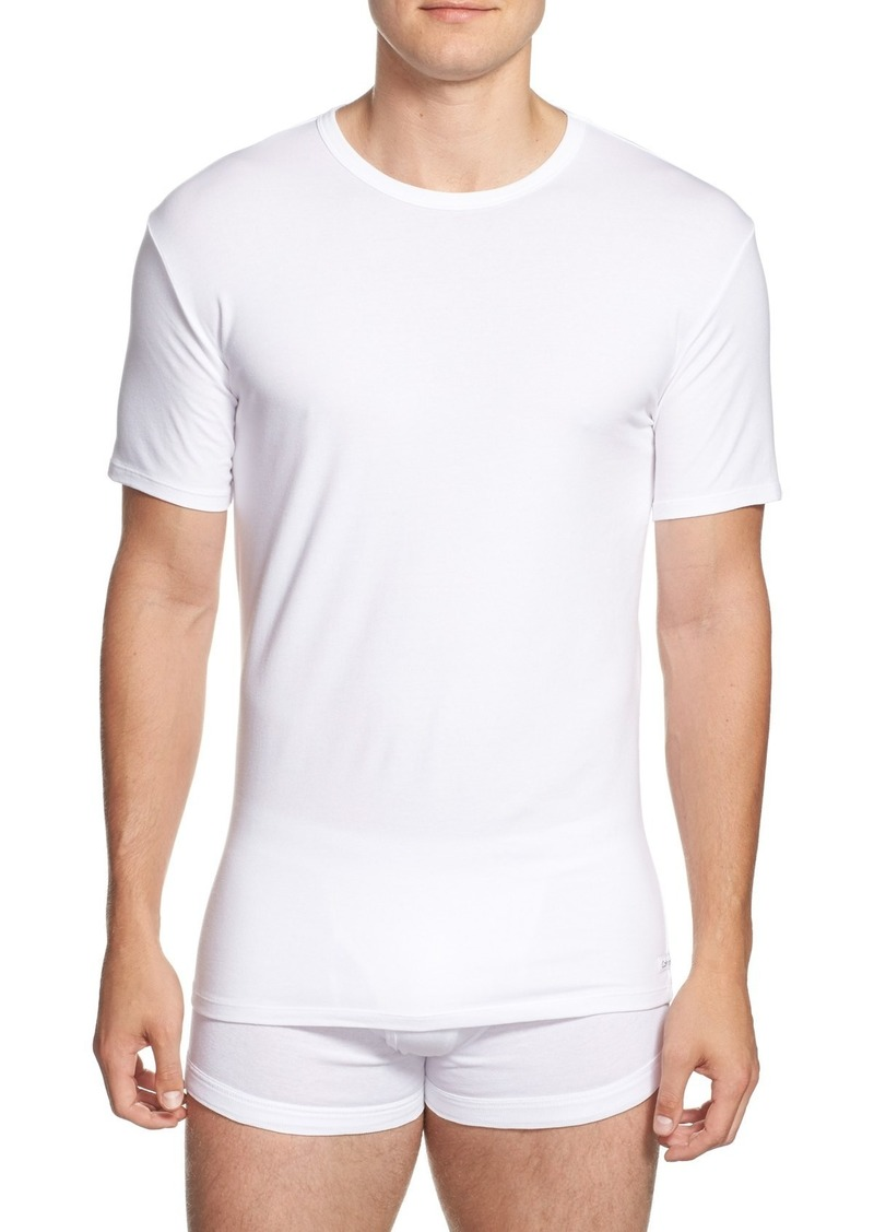 438b378e843190 Calvin Klein Calvin Klein 2-Pack Stretch Cotton Crewneck T-Shirt Now ...