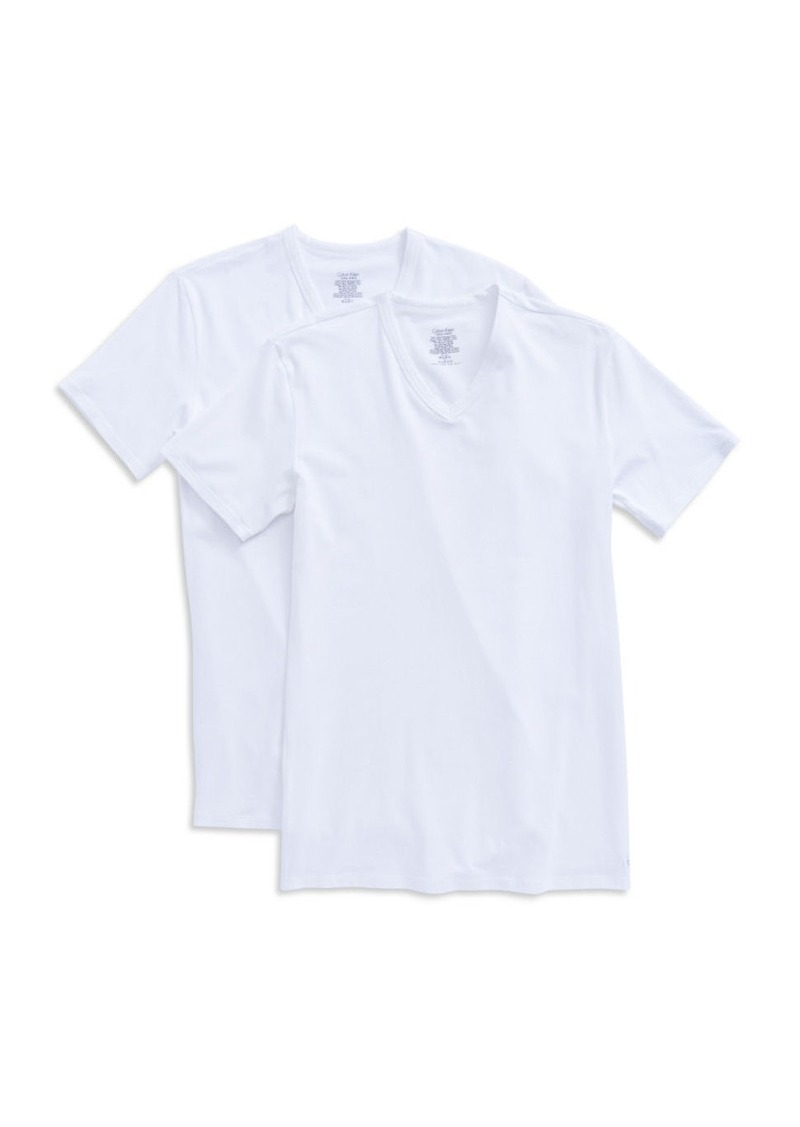 CALVIN KLEIN 2-Pack Stretch Cotton Tee