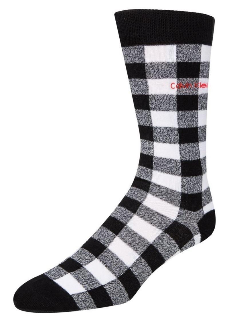 Calvin Klein 2-Pair Checkered Crew Socks