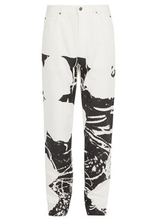 CALVIN KLEIN 205W39NYC Abstract-print denim jeans