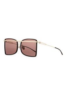 CALVIN KLEIN 205W39NYC Acetate & Metal Aviator-Style Sunglasses
