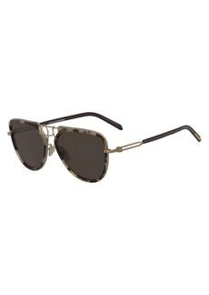 CALVIN KLEIN 205W39NYC Acetate & Metal Aviator Sunglasses