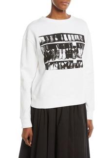 CALVIN KLEIN 205W39NYC Andy Warhol Cowboy Boots Crewneck Cotton Sweatshirt
