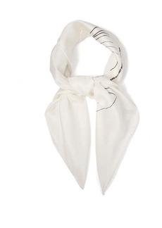 CALVIN KLEIN 205W39NYC Andy Warhol-print silk scarf
