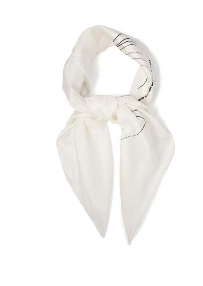 Calvin Klein Andy Warhol-print silk scarf