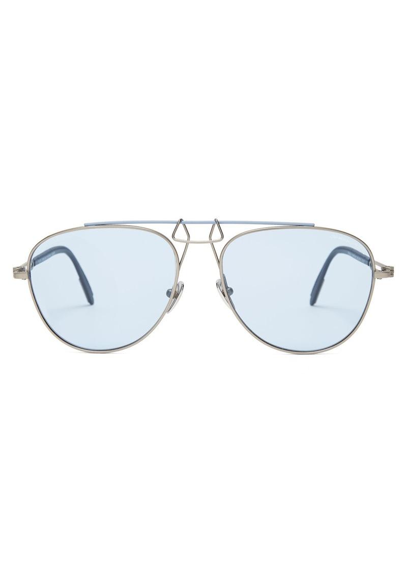e789692398a3 Calvin Klein CALVIN KLEIN 205W39NYC Aviator-frame metal sunglasses ...