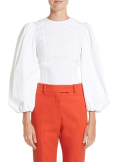 Calvin Klein 205W39NYC Balloon Sleeve Cotton Poplin Blouse