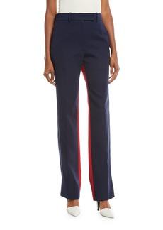 CALVIN KLEIN 205W39NYC Bicolor Straight-Leg Wool Pants