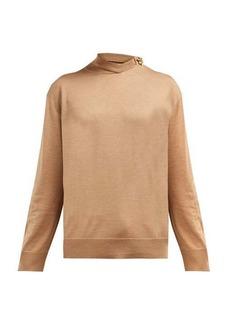 CALVIN KLEIN 205W39NYC Brooch detail merino wool-blend sweater