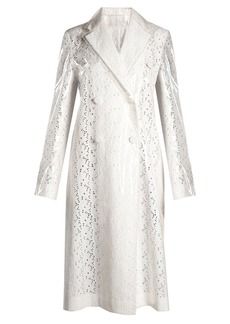 CALVIN KLEIN 205W39NYC Coated-overlay broderie-anglaise coat
