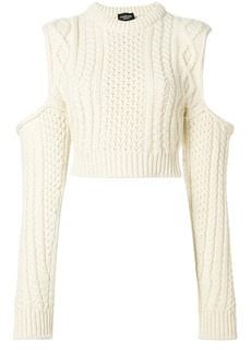 Calvin Klein 205W39nyc cold shoulder chunky jumper - Nude & Neutrals