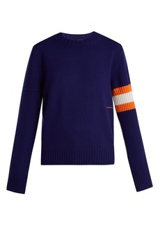 CALVIN KLEIN 205W39NYC Contrasting-sleeve cashmere sweater