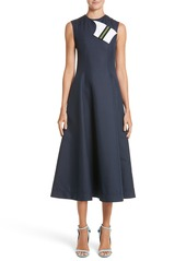 CALVIN KLEIN 205W39NYC Cotton & Silk Dress