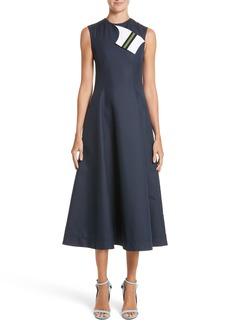 CALVIN KLEIN 205W39NYC Cotton & Silk Dress