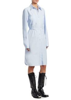 Calvin Klein Lace-Up Back Shirt Dress
