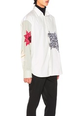 CALVIN KLEIN 205W39NYC Double Collar Patchwork Shirt