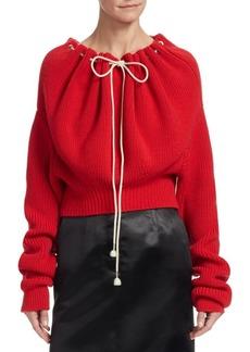 Calvin Klein Drawstring Collar Knit Sweater