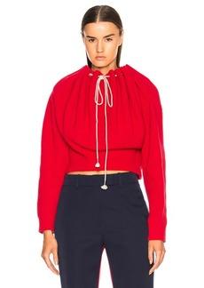 CALVIN KLEIN 205W39NYC Drawstring Neck Sweater