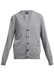 CALVIN KLEIN 205W39NYC Drop-embroidered wool-blend cardigan