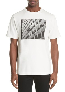 CALVIN KLEIN 205W39NYC Flag On Building Graphic T-Shirt