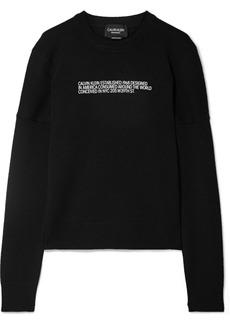Calvin Klein Flocked Cashmere Sweater