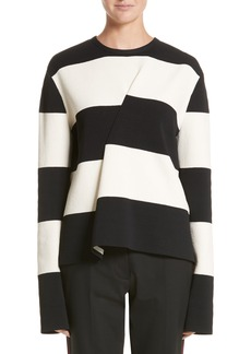 CALVIN KLEIN 205W39NYC Folded Stripe Sweater