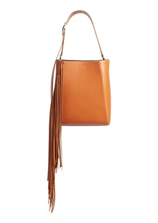 CALVIN KLEIN 205W39NYC Fringe Leather Bucket Bag