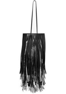 Calvin Klein Fringed two-tone leather bucket bag