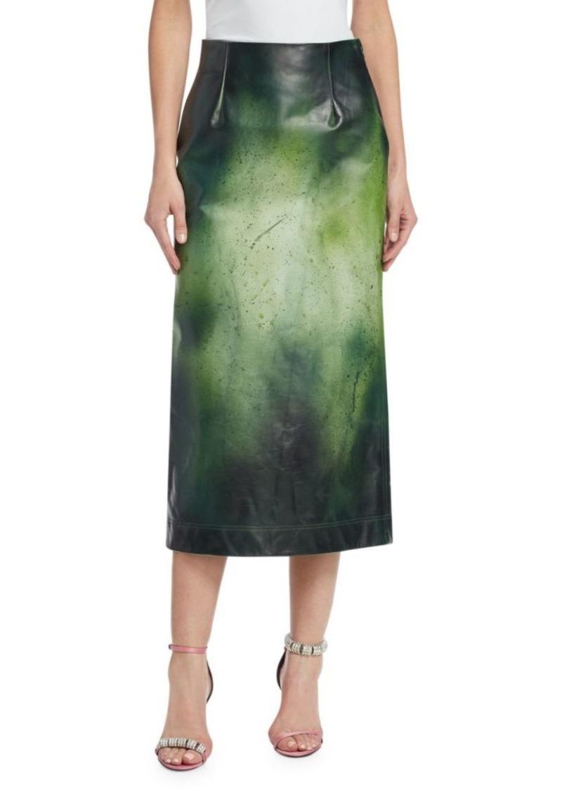 dec5b04638e6 Calvin Klein Glossy Overpaint Leather Pencil Skirt | Skirts