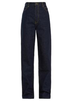 CALVIN KLEIN 205W39NYC High-rise straight-leg jeans