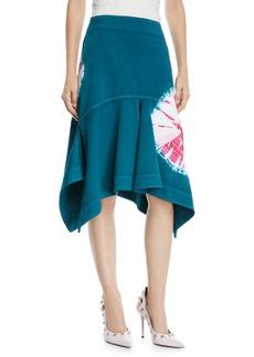CALVIN KLEIN 205W39NYC High-Waist Denim Sand Dollar Fit/Flare Skirt