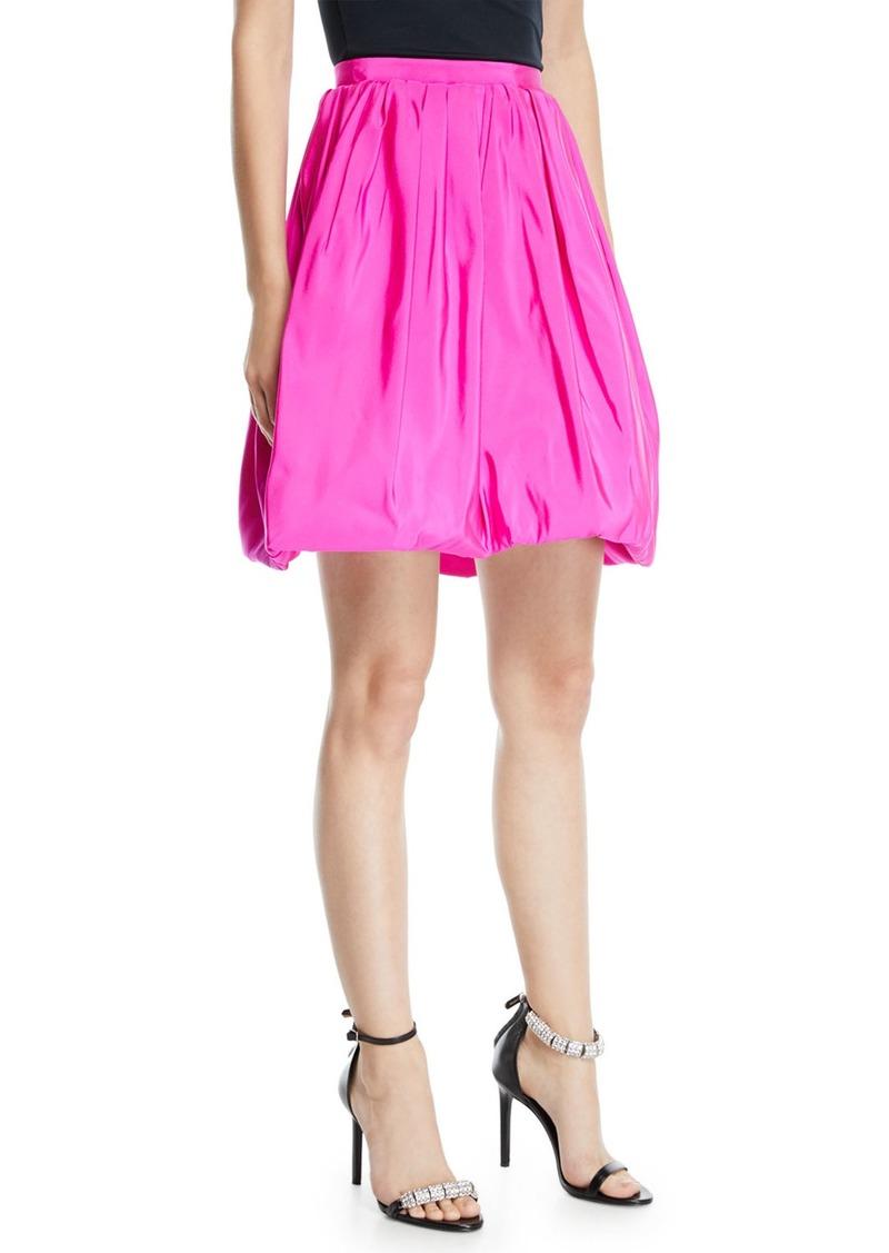 CALVIN KLEIN 205W39NYC High-Waist Silk Faille Bubble Skirt