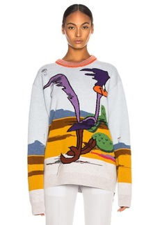 CALVIN KLEIN 205W39NYC Jacquard Looney Tunes Crewneck Sweater