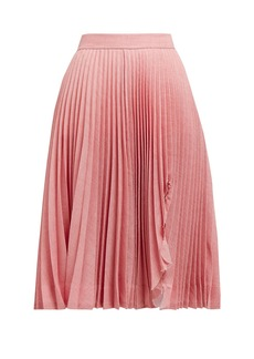 CALVIN KLEIN 205W39NYC Jaws cut-out pleated skirt