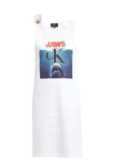 CALVIN KLEIN 205W39NYC Jaws-print ribbed cotton-jersey dress
