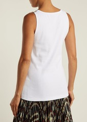 CALVIN KLEIN 205W39NYC Lace-trimmed stretch cotton-blend tank top
